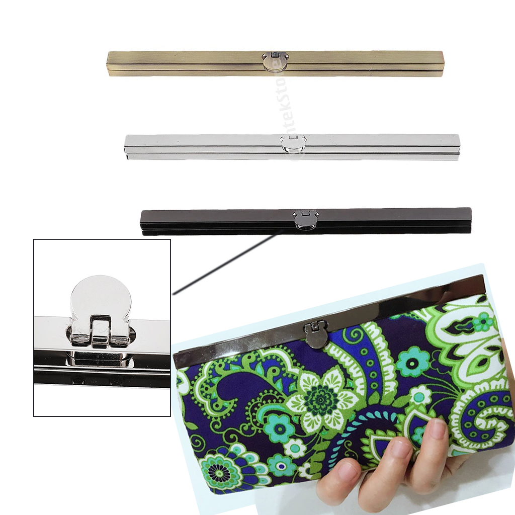 Alloy DIY Purse Frame Wallet Bag Making Supplies Clasp Fastening Wallet Frame Kiss Clasp Lock For Bag 7.48 Inch
