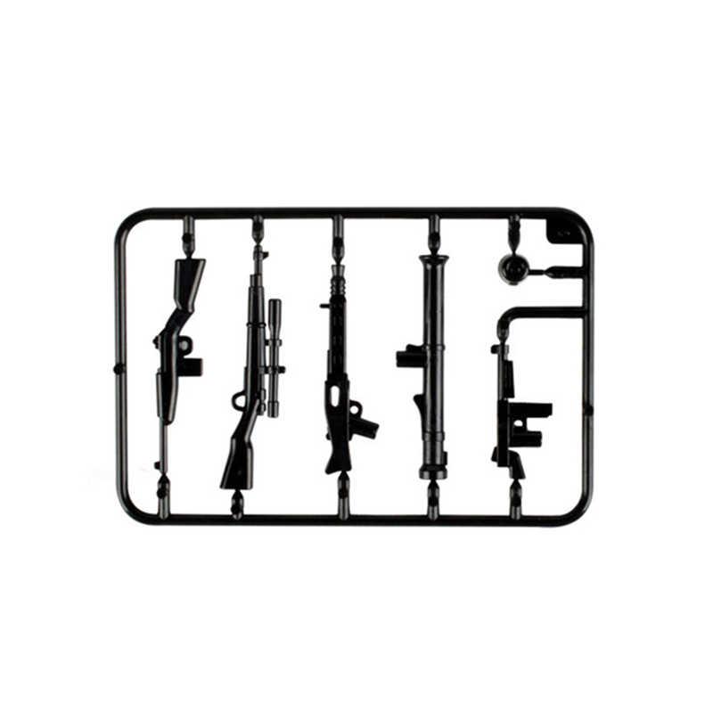 Legoing duploed conjunto militar exército cidade polícia arma armas série pacote soldados da cidade swat blocos de construção brinquedos para crianças presente