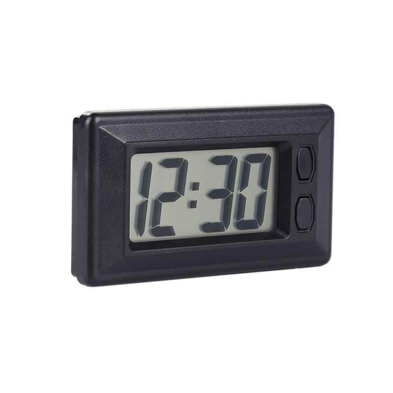 New Hot Sale 2 In 1 Automobile Car Clock Thermometer Sucker Type Clock Thermometer Transparent LCD Digital Watch Button Cell