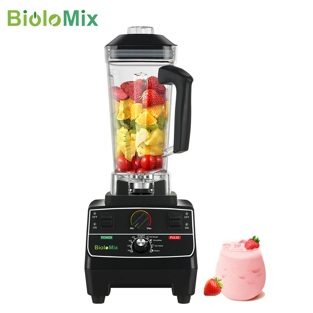 BPA Free 2L Jar 2200W Professional Smart Timer Pre programed Blender Mixer Juicer Food Processor Ice Smoothies Crusher|Blenders| - AliExpress