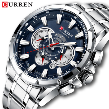 Curren Men's Watches Top Brand Luxury Chronograph Quartz Men Watch Waterproof Sport Wrist Watch Men Stainless Steel Male Clock