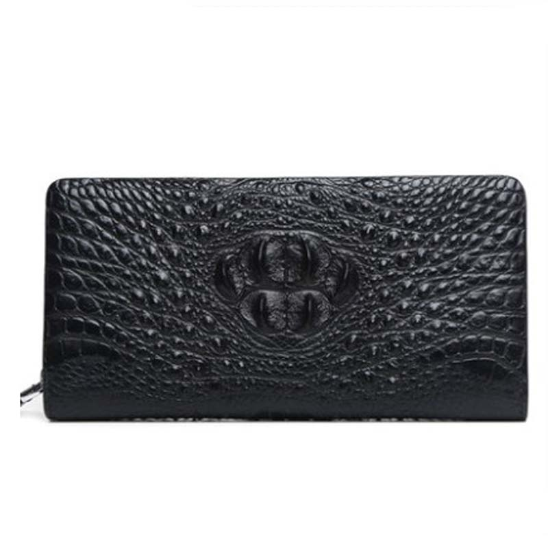 langhao  men wallet  male clutch bags  crocodile leather bag  Cross section  square  business   male  Hand caught men purse
