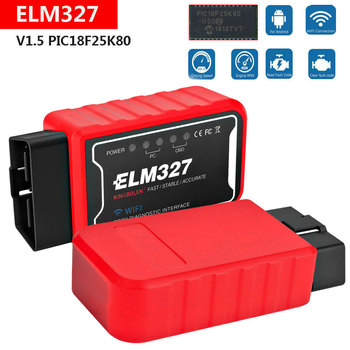 ELM327 OBDII Engine Check Code Reader For Jaguar XF XE X250 F-PACE F-TYPE S-Type X-Type Wifi /Bluetooth OBD2 Scanner Detector 1