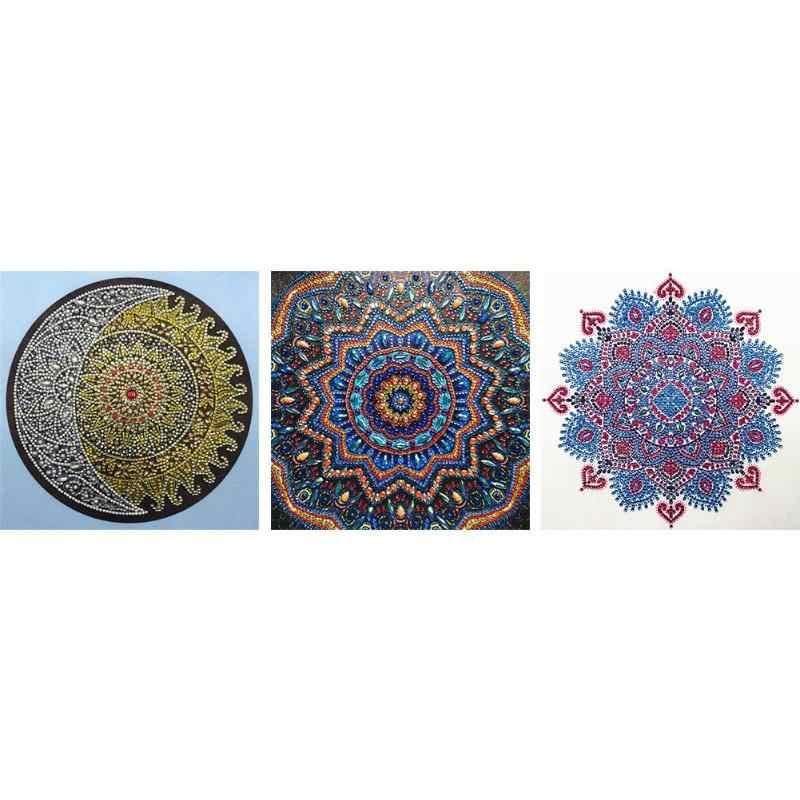 5D FAI DA TE Speciale A Forma di Diamante Pittura Geometrica Ricamo A Punto Croce Pittura Diamante Mosaico Kit per la Decorazione Della Parete Regali
