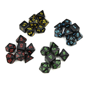 7pcs dices in one set brand new dnd dice sets resin polydice dados dnd game lovers TRPG dados de rpg perfect gift 30A20(China)