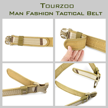 Army Style Combat Belts Quick Release Tactical Thickened Widen Belt Fashion Men Canvas Waistband Outdoor Hunting Accessories 4