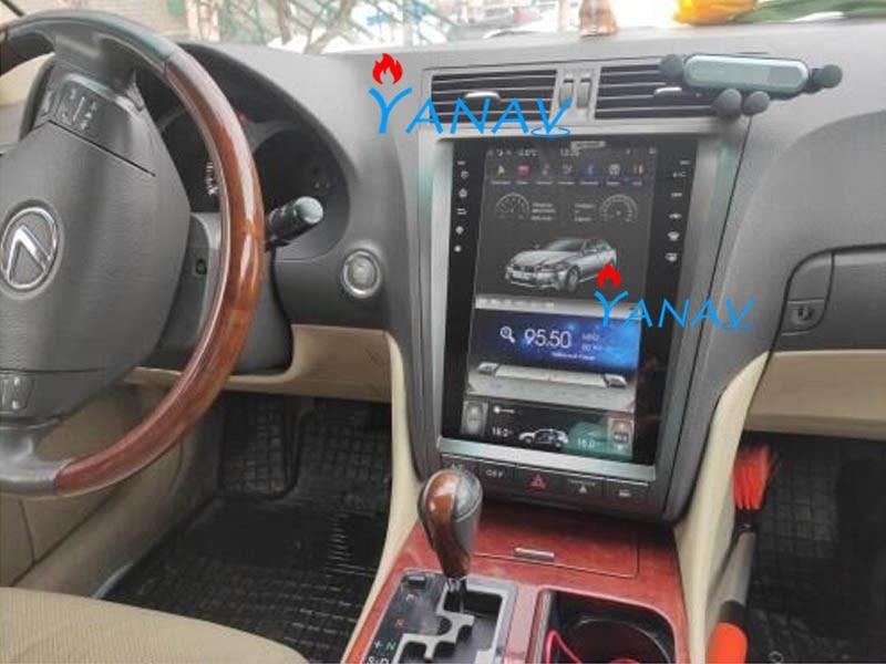 12.1' Tesla Vertical Screen GPS Radio Car Multimedia DVD Player For-Toyota-Lexus GS/GS200/GS300/GS350/GS450/GS460 Car Stereo