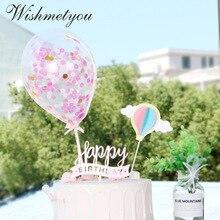WISHMETYOU Stereo Balloon Wings Happy Birthday Cake Topper Wedding Decorative Tools Party Dessert Romantic Creative