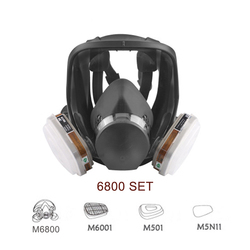 7 In 1 6800 Industrial Painting Spraying Respirator Gas Mask 2 In 1 Suit Safety Work Filter Dust Full Face Mask Replace 3M