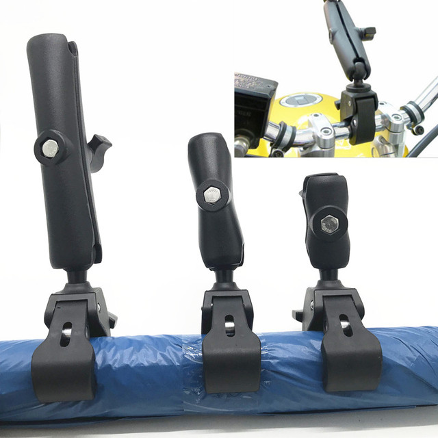 """Tough Claw Handlebar / Rail Base with 1"""" Ball and Double Socket Arm for gopro for motorcycle"""