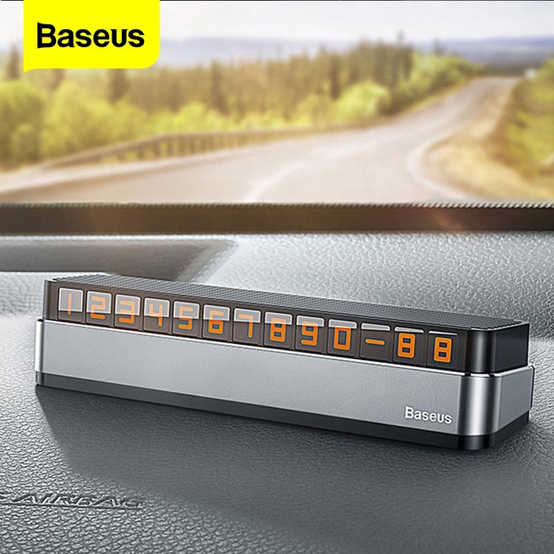 Автомобильная карточка для временной парковки Baseus, держатель для телефона, светящаяся пластина для телефона, автостоянка, аксессуары для с...