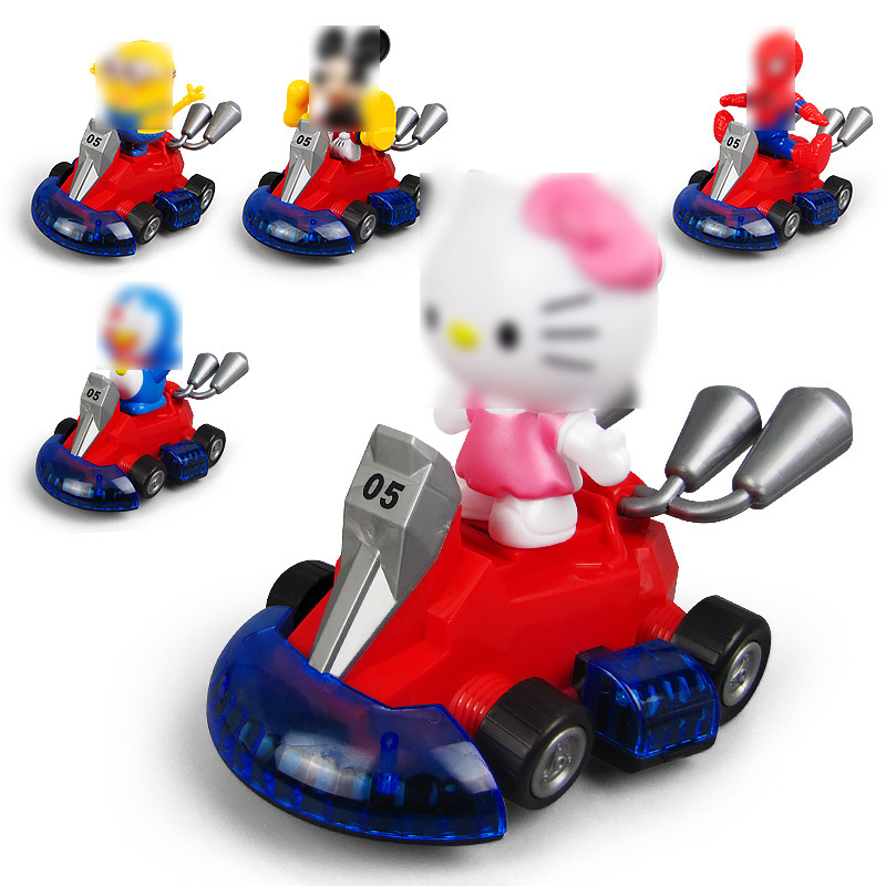 New Style Children Drift Karting Cute Modeling Light Music Electric Universal Car Educational Toy Stall Hot Selling