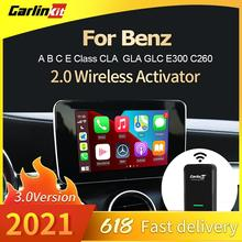 Carlinkit 3.0 New 2021 Apple Wireless Carplay Adapter Dongle Auto Connect For Benz Car Multimedia Player Plug And Play MP3 IOS14