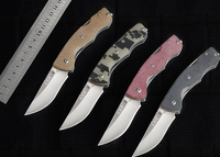 Sanrenmu7095 7 IN 1 Outdoor EDC Folding Knife G10 Handle with Belt Cutter Glass Breaker Bottle Opener