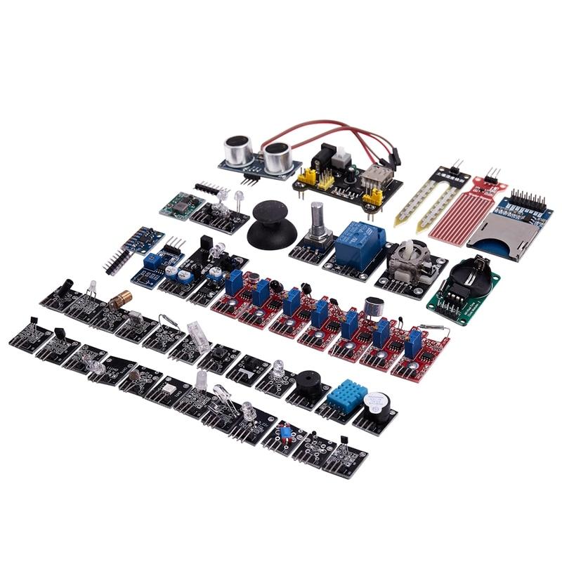 Плата сенсорного модуля для обучения Raspberry Pi, обновленный модуль датчика «сделай сам», стартовый комплект, 45 шт./компл.