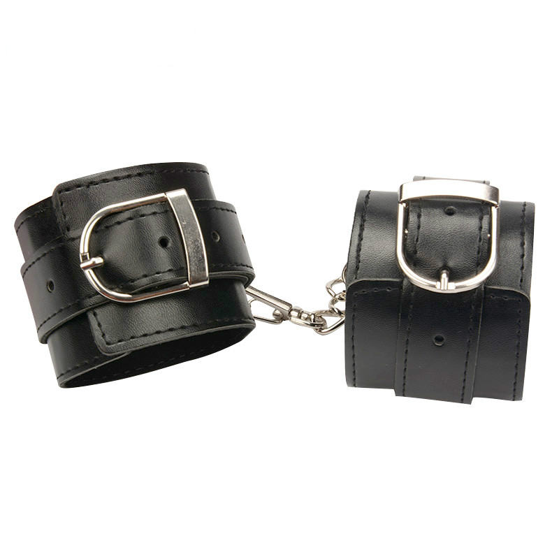 Leather Handcuffs for font b Sex b font Hand and Ankle Cuffs Bdsm Bondage Restraints Fetish
