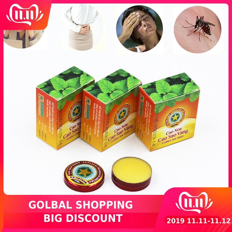 3pcs Summer Cooling Oil For Treat Headache And Dizziness And Itching To Prevent Mosquito Bite .Cool And Refreshing Feeling Well