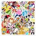 56pcs Disney Anime Sticker Mickey Mouse Snow White Luggage Piano Car Bike Graffiti Sticker Waterproof
