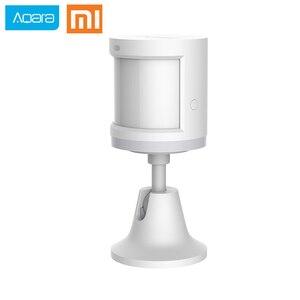 Oryginalny Xiaomi Aqara czujnik ciała i czujniki natężenia światła, ZigBee wifi bezprzewodowa praca dla xiaomi inteligentnego domu mijia Mi domu APP
