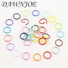 100 pçs 10mm doces cores abrir anel de salto fechado anéis pingente conectores anel descobertas jóias anel rachado diy jóias descobertas