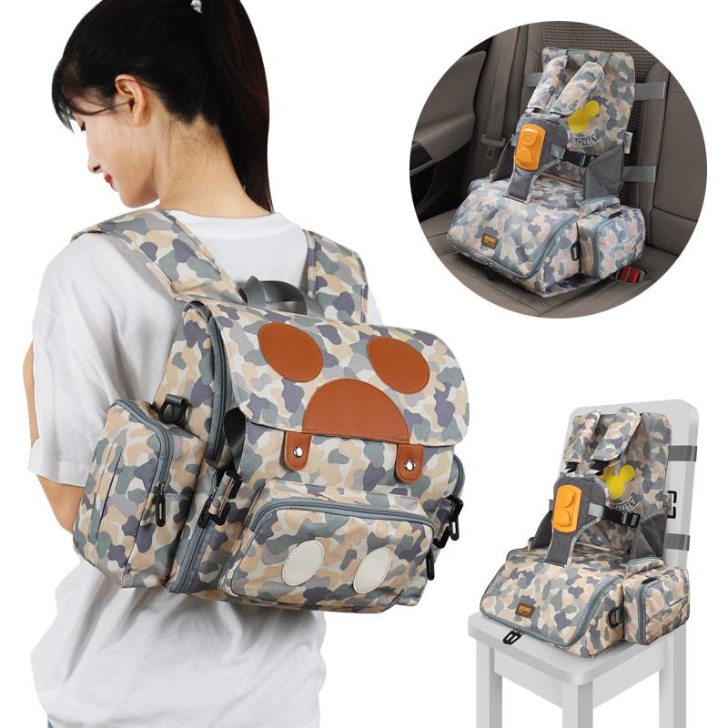 Многофункциональный водонепроницаемый детский ремень безопасности 3 в 1, детское сиденье для кормления, 5-точечный ремень безопасности, портативный ремень безопасности, обеденный высокий стул 5