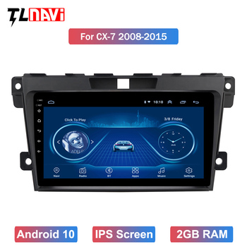 For 1Mazda CX7 CX-7 CX 7 ER 2009-2012 Car Radio Multimedia Video Player Navigation GPS Android 10 IPS Screen image