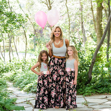 Summer Family Matching Clothes Casual Mom And Daughter Dress Striped Mommy Me Hot Sale