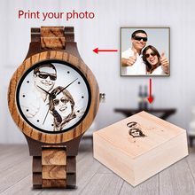 ボボ鳥個人カスタマイズメンズ腕時計家族誕生日ギフトクォーツ竹腕時計メンズ腕時計彫刻ロゴ