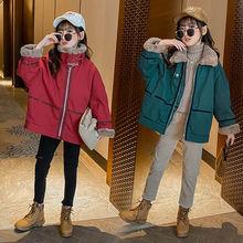 Новое зимнее пальто для девочек отправляется в иностранном стиле