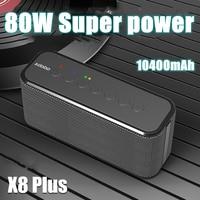 XDOBO X8 artı kablosuz Bluetooth hoparlör taşınabilir ses sütun Ultra yüksek güç 80W Subwoofer cep telefonu şarj için bom kutusu