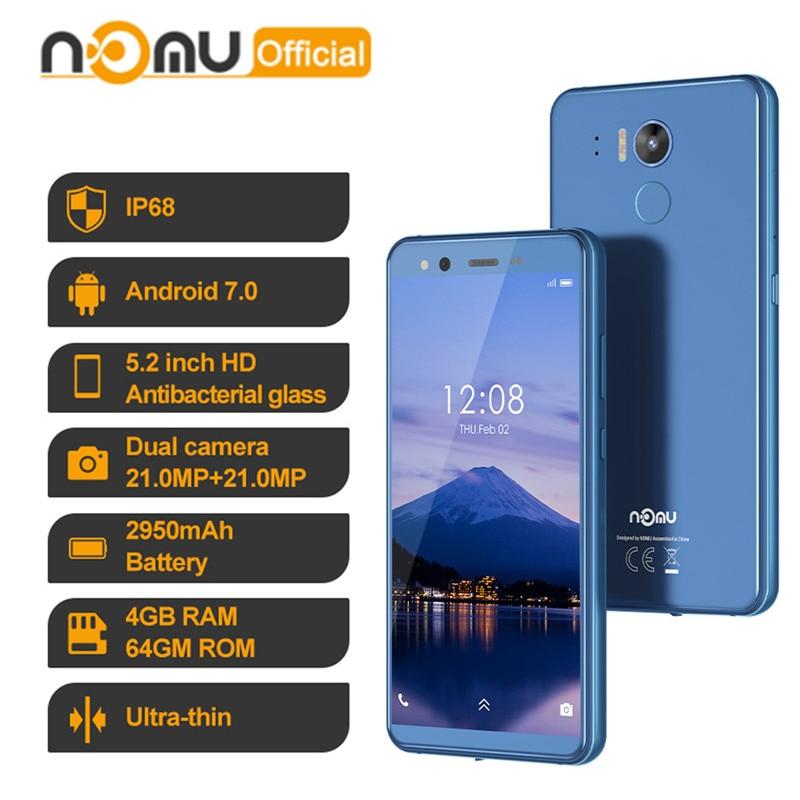 IP68 wodoodporny smartfon Nomu M8 4GB 64GB Octa Core 4G LTE 16MP Android 7.0 MTK6750T 5.2 ''NFC OTG odporne na wstrząsy telefony komórkowe PK M6