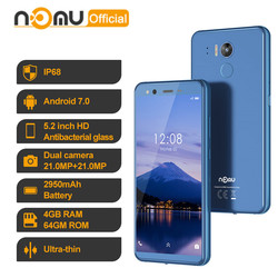 IP68 Waterproof Smartphone Nomu M8 4GB 64GB Octa Core 4G LTE 16MP Android 7.0 MTK6750T 5.2'' NFC OTG Shockproof Cellphones PK M6