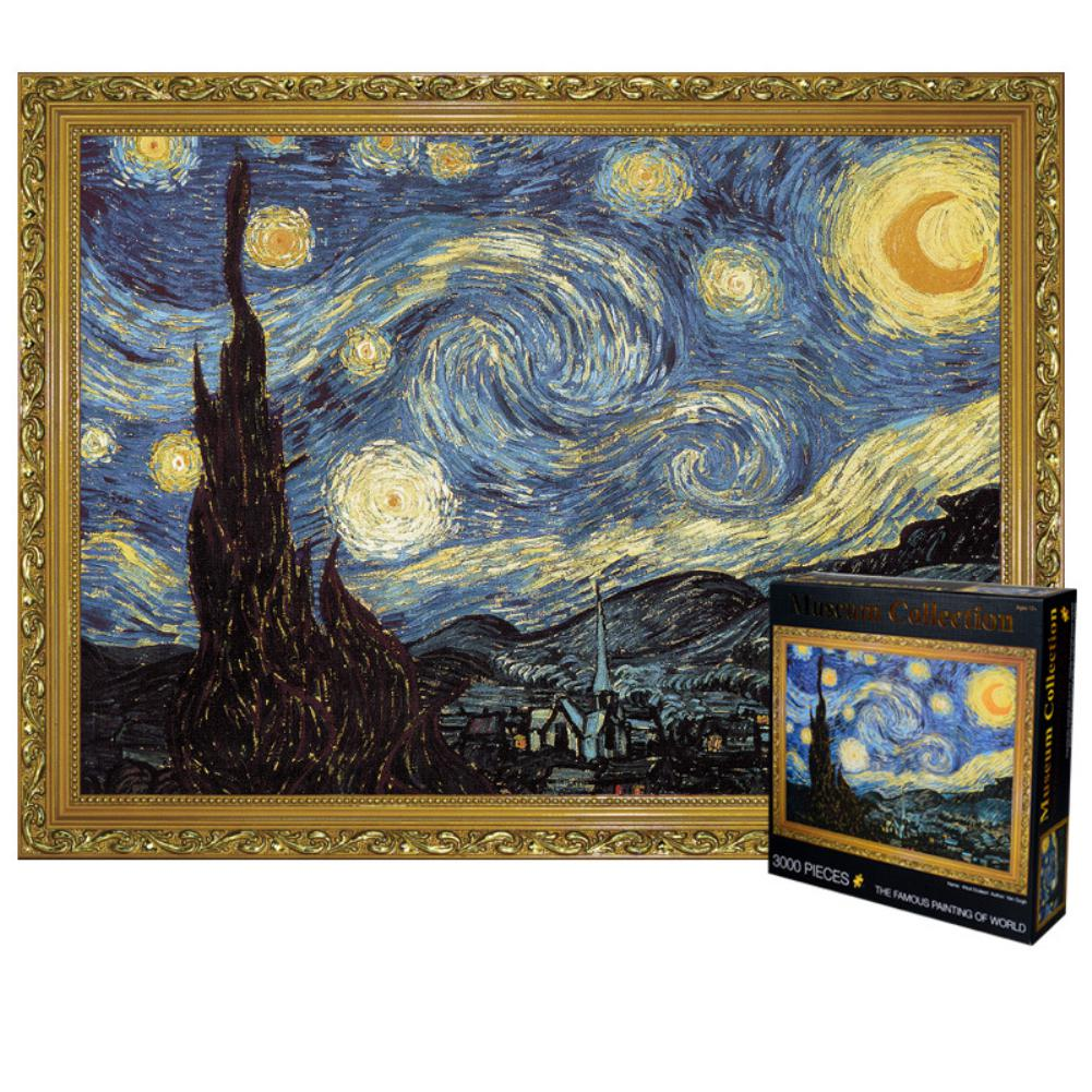 RCtown 3000pcs Large Starry Sky Van Gogh Puzzle Early Education Toy Gift For Adult Kids