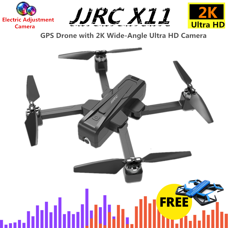 <font><b>JJRC</b></font> <font><b>X11</b></font> GPS RC <font><b>Drone</b></font> Quadcopter with 5G WiFi 2K HD Camera 20mins Fly Time Brushless Quadrocopter Follow Me Dron VS B4W F11 image