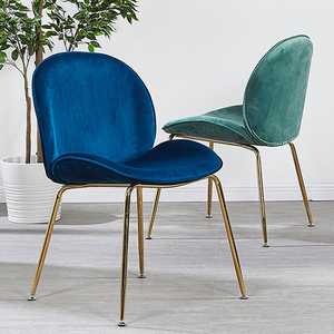 Nordic Luxury Modern Gold Steel Design Dining Room Chair Home Leisure Beetle Chair Restaurant Stool Comedores Modernos Muebles(China)