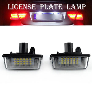 2pcs Car 12V 18LED License Plate Lights SMD for Toyota Corolla E11 Crown S180 Starlet EP91 Vios Previa ACR50 GSR50(China)