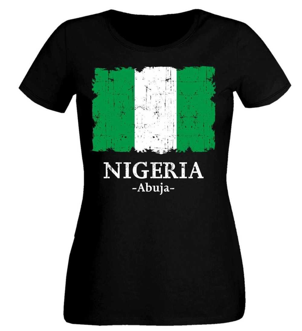 קיץ נשים חולצה ניגריה חולצה Soccers T חולצת נשים & כדורגלן חמוד חולצה