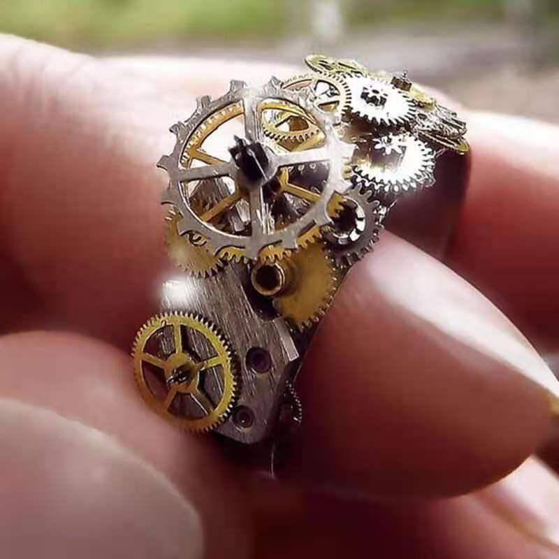 Унисекс высокое мастерство сеялка точного высева механическая серебро Цвет циферблат кольца для мужчин и женщин вечерние ювелирные издели...