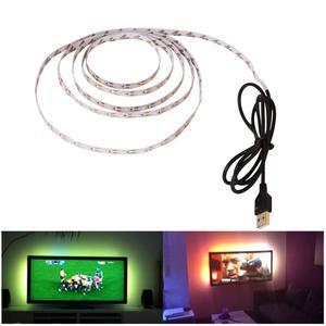 Dc 5v led luz de tira smd2835 branco quente flexível lâmpada led fita 5m 2m 3m diy tv fundo pc sonho tela usb led tira