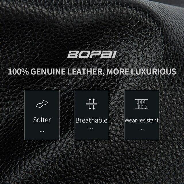 BOPAI Genuine Leather Backpack Laptop Mens Business Casual Waterproof Back Pack Male Computer Bagpack Black Backpacking 2