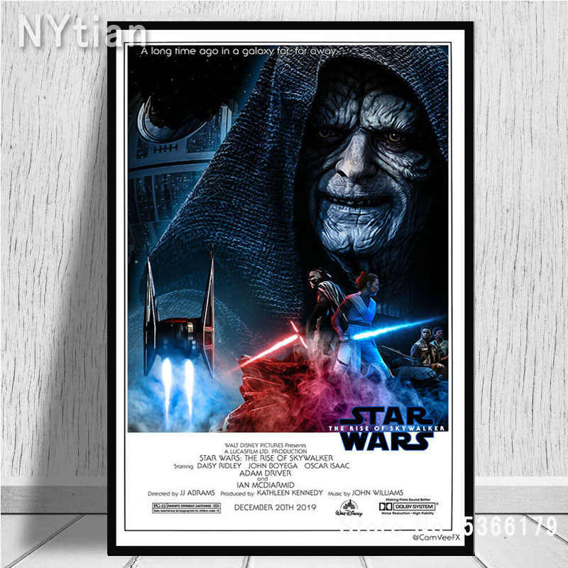 Nt492 Star Wars The Rise Of Skywalker Imax Ix 2019 Movie Poster Wall Art Canvas Painting Picture Prints Living Home Room Decor Aliexpress