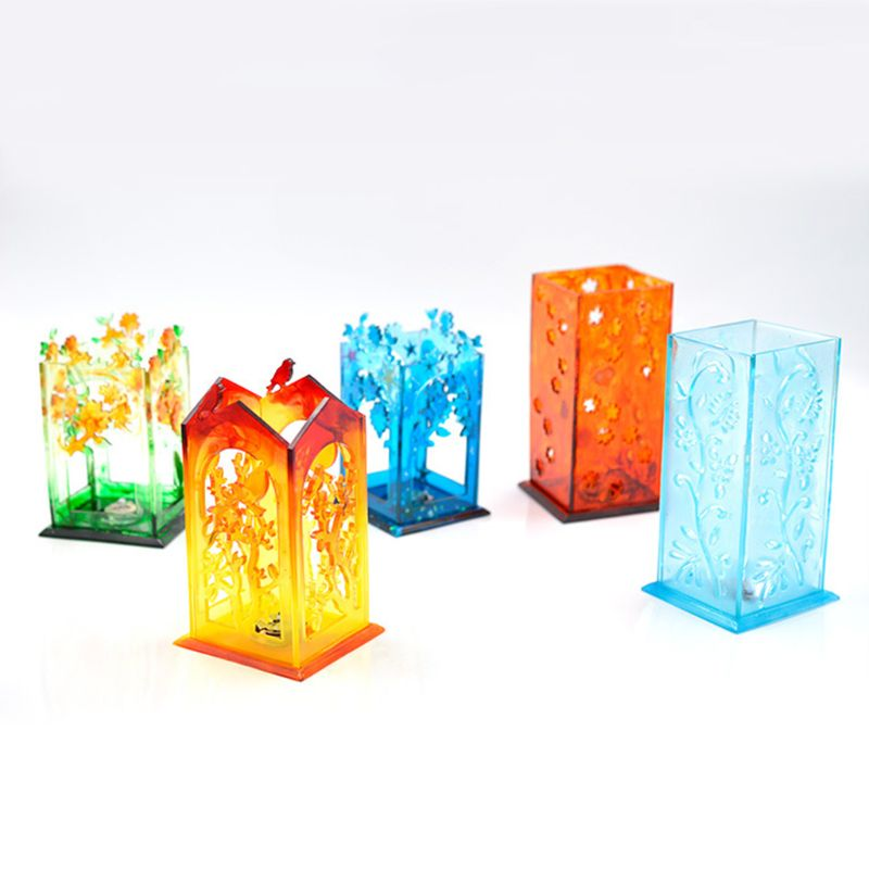 Screen Lantern Mold DIY Manual Crystal Epoxy Mould Transparent Dropping Glue Crafts Making Material  T4MD