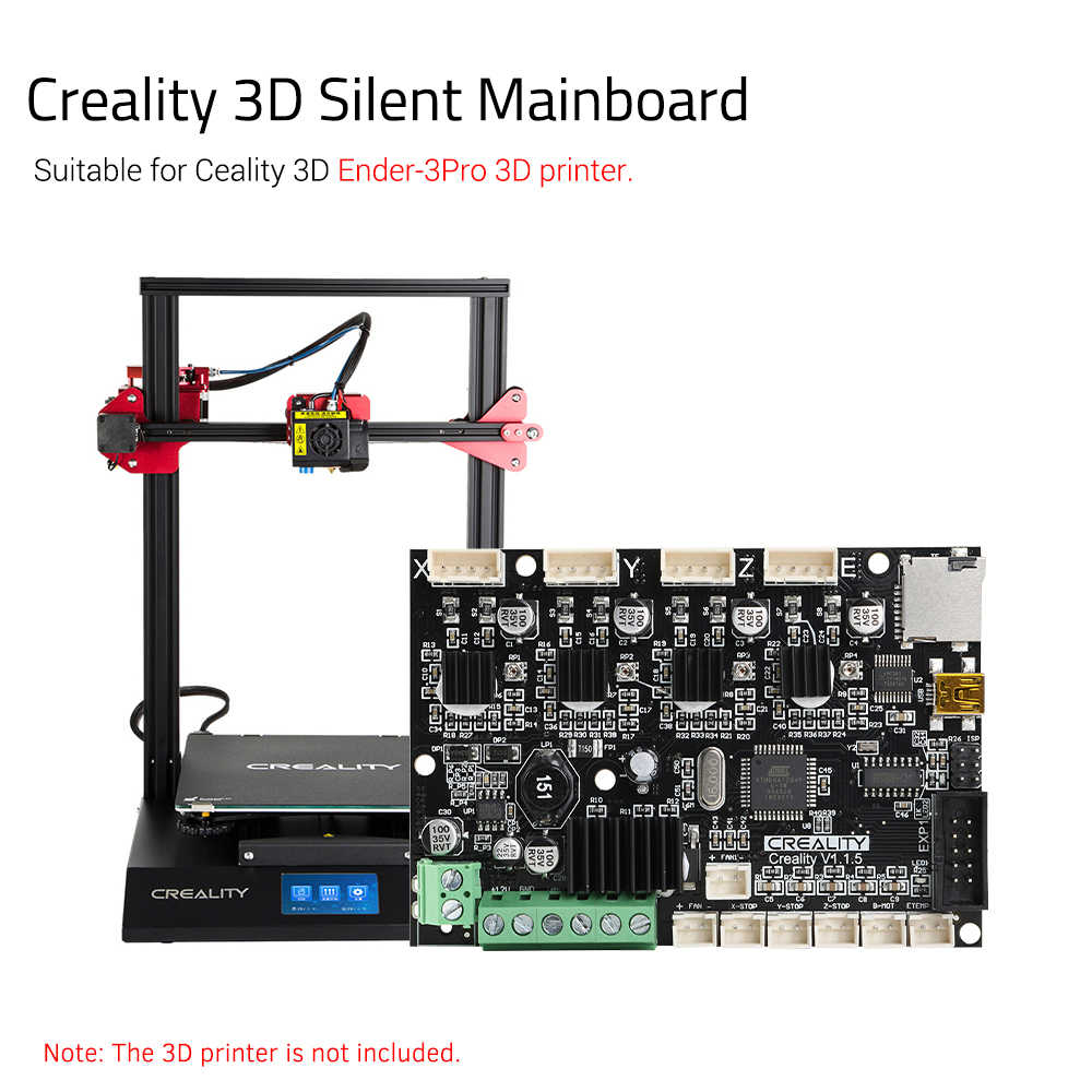 Creality 3D placa madre de Control V1.1.5 placa base silenciosa para Ender-3/Ender-5 Kit de escritorio de auto montaje DIY impresora 3D