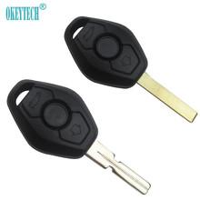 OkeyTech 3 przycisk UNCUT klucz samochodowy zdalnego powłoki CASE pasuje do BMW 1 3 5 6 7 serii serii Z3 Z4 X3 X5 M5 325i E38 E39 E46 Auto klucz tanie tanio car key for BMW good quality china auto key shell for bmw key auto key case for bmw black for bmw e34 e36 e38 e39 e46 0 03KG