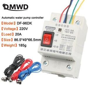 Image 1 - DF 96ED 자동 수위 컨트롤러 스위치 10a 220 v 물 탱크 액체 레벨 감지 센서 워터 펌프 컨트롤러 2m 전선