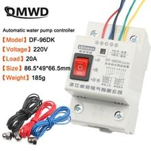 Interruptor DF 96ED controlador de nivel de agua automático 20A 220V Sensor de detección de nivel de líquido del tanque de agua controlador de bomba de agua 2m cables