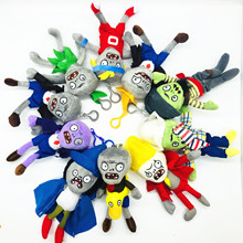 NEW 18CM Plants vs Zombies Plush Toys Pendant PVZ Zombies Plush Key chain Toy Soft Stuffed Toys Doll for Children  Gifts