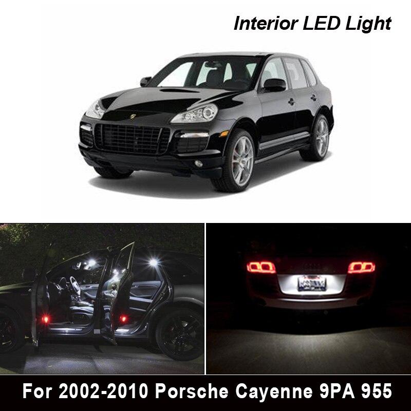 17 шт. белые светодиодные с Canbus Автомобильный интерьер Комплект ламп для 2002-2010 led Porsche Cayenne 9PA 955 S GTS турбо Свет Интерьер комплект
