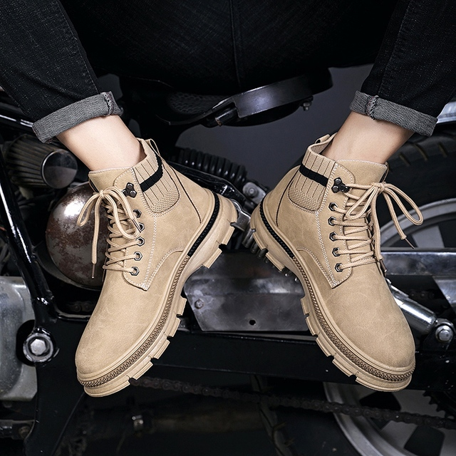 VESONAL Autumn Winter New Leather Ankle Snow Men Boots Shoes Classic Motorcycle With Fur Plush Warm Vintage Male Casual booties