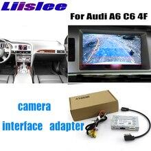 Liandlee駐車カメラインタフェース逆バックアップカメラキットアウディA6 C6 4F mmiディスプレイのアップグレード